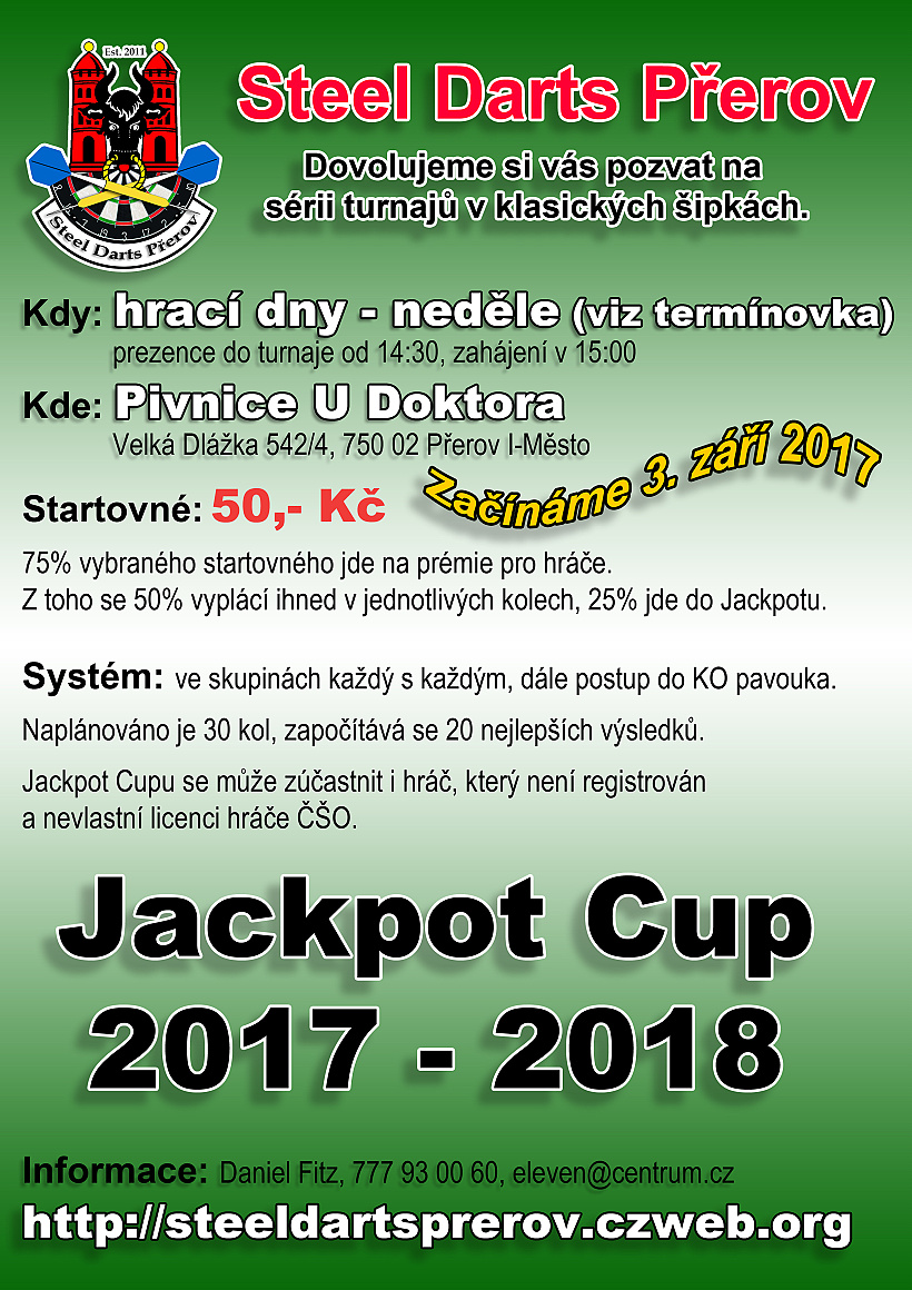 Pozvánka na Jackpot Cup 2017 - 2018